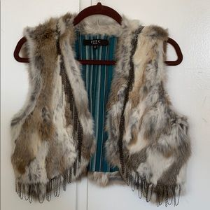 Fur Vest with Chain detail